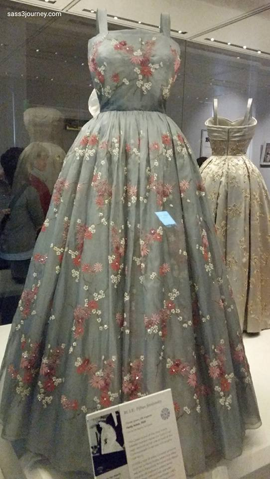 This dress was worn in Novia Scotia during a Commonwealth visit to Canada in 1959.