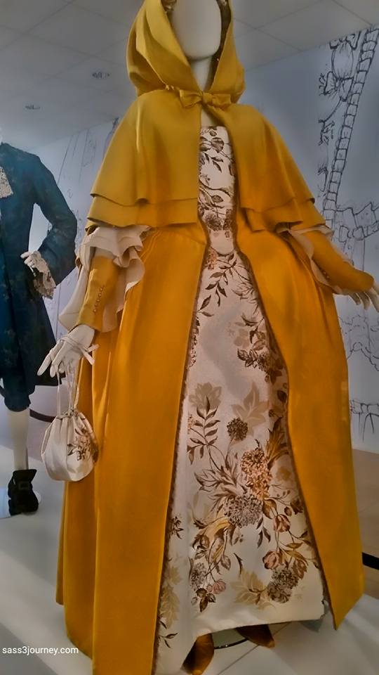 Claire's gown taken at the Paley Center during the exhibit the Artistry of Outlander.