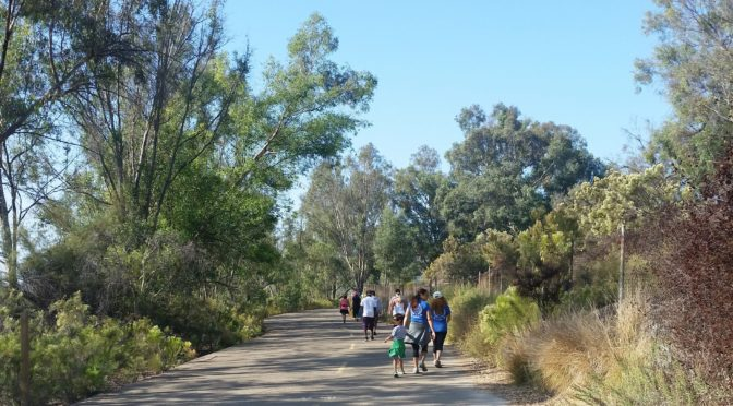 Outlander Mission Trails Walk with Family and Friends