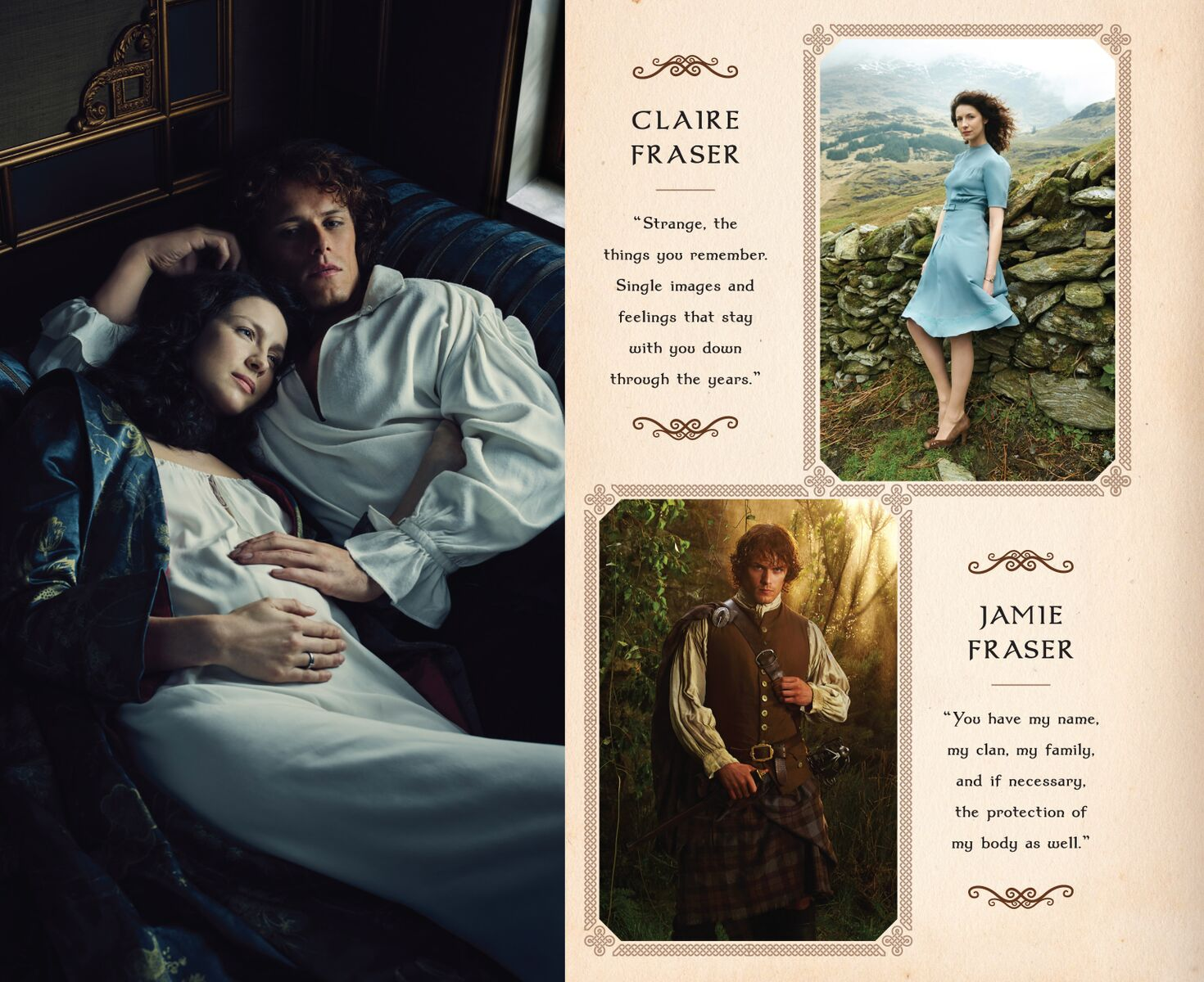 outlander journal and poster portfolio by insight editions. Black Bedroom Furniture Sets. Home Design Ideas
